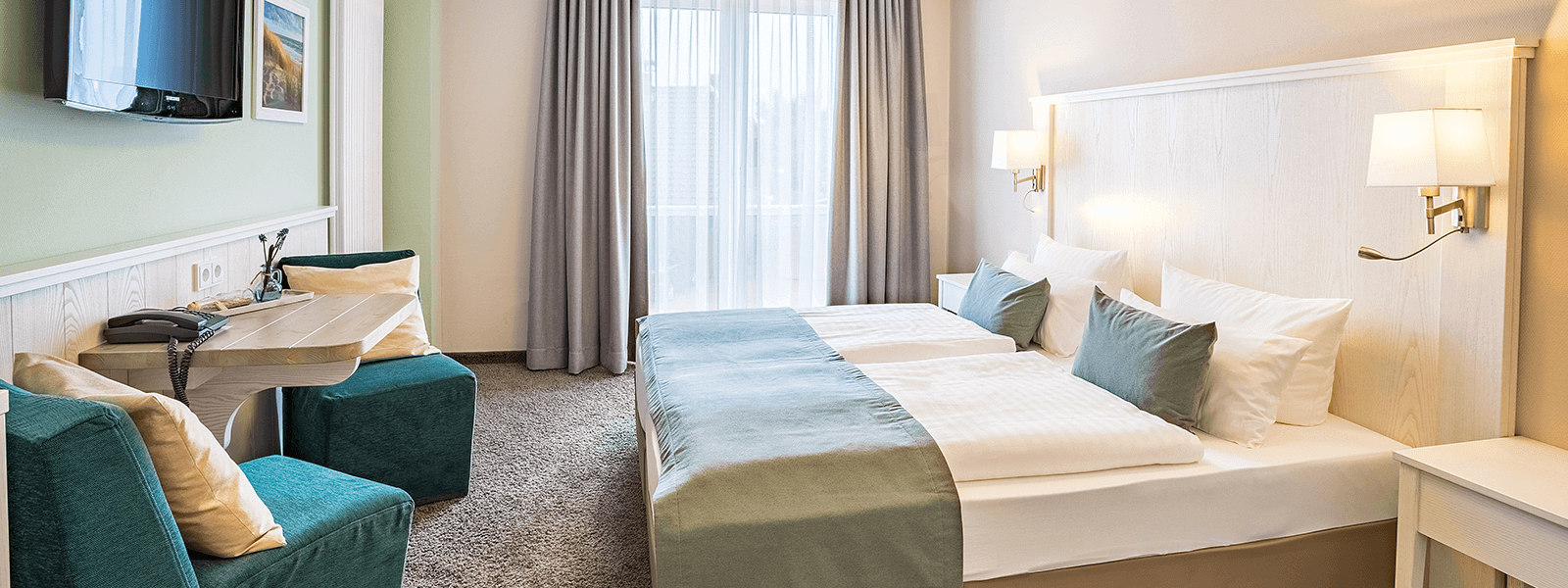 Doppelzimmer Hotel Regina Maris, Hotel Regina Maris, Norden-Norddeich, Nordsee, Ostfriesland, Urlaub zu Zweit, Nordseeurlaub, Urlaub am Meer,