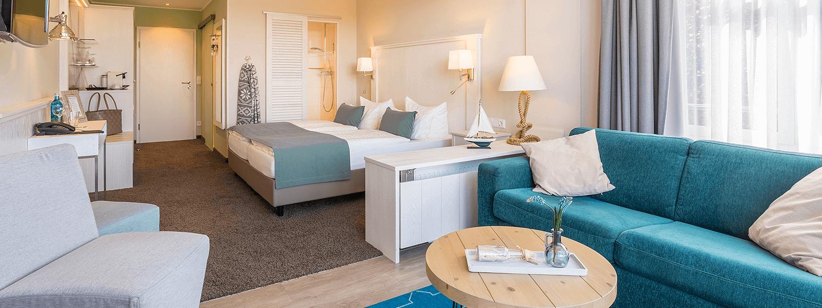 Juniorsuite Hotel Regina Maris, Hotel Regina Maris, Norden-Norddeich, Nordsee, Ostfriesland, Urlaub zu Zweit, Nordseeurlaub, Urlaub am Meer,