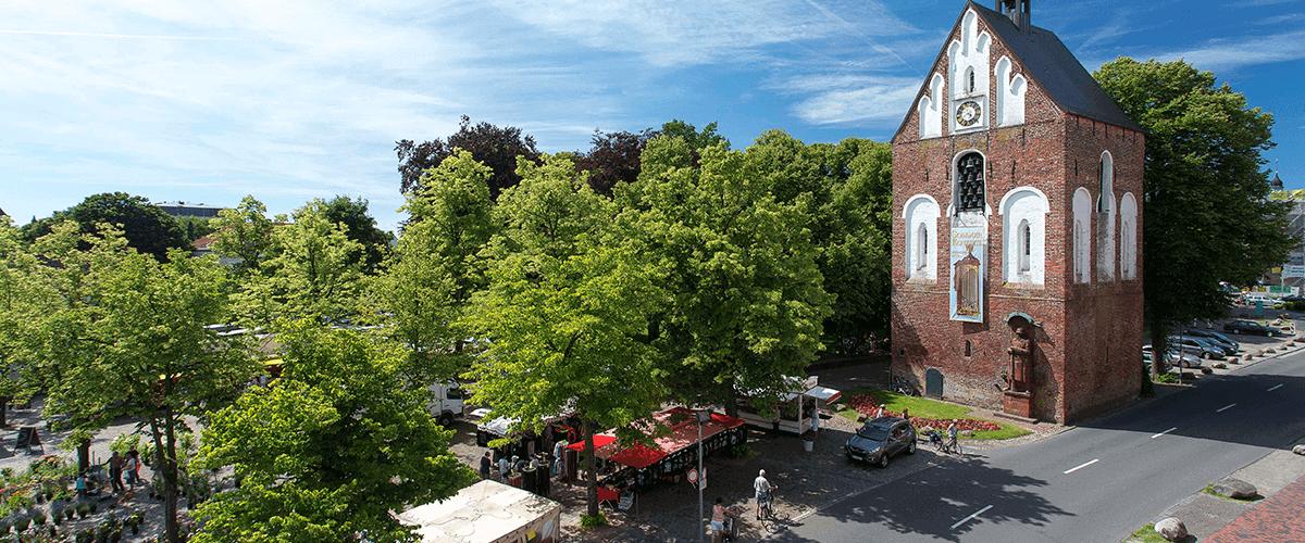 Hotel Regina Maris, Norden-Norddeich, Nordsee, Ostfriesland, Marktplatz