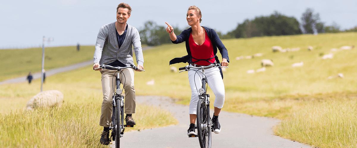 Hotel Regina Maris, Norden-Norddeich, Nordsee, Ostfriesland, Radtour, Fahrrad, Ausflug, Paar, Urlaub zuZweit